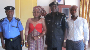 From Left- DPO, Abi Police Division, Abi LG Chairman, ACP Kromoa, and Abi Special Adviser on Peace and Security, Dermot Akpoke