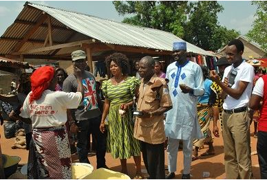 Hon Rita Ayim, Executive Chairman, Ogoja LGA interacting with market users as LG initiates new revenue collection system supported by GEMS3 and powered by smartgov and ecobank