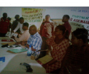 Hon. Steve Ukpukpen with bankers of the cooperatives and some of his constituents
