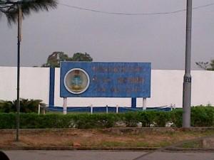 NNS Victory signpost in Calabar