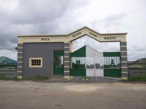 Main entrance gate, Bakassi Estate