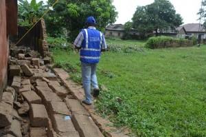 SEMA staff accessing ravaged buildings