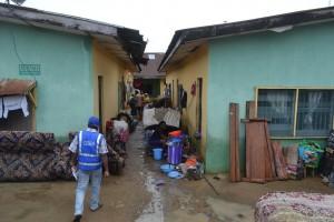 SEMA staff accessing a flooded home at Mayne Avenue