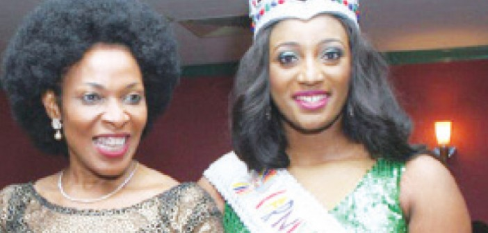 Cross River First Lady, Obioma Imoke and Nancy Olive, the new Carnival Calabar Queen