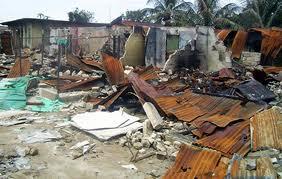 File: Burnt buildings