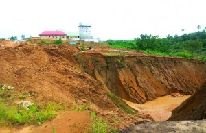An erosion site in Cross River State
