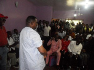 Jedy Agba rolling up his sleeves to make a point