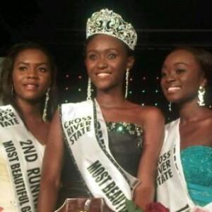 Miss Prosper Achu Ayuk, Winner of the maiden edition of Cross River Most Beautiful Girl, CRMBG