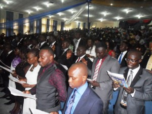Cross section of the new doctors taking their oath yesterday