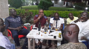 Hon. Bassey Ewa, Hon Paul Adah, Mr. Mike Aniah,  Eko Atu and Chief Tony Undiandeye at the birthday
