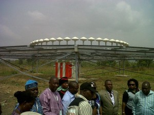 The Good Governance Tour team, inspecting facilities at the Bebi Airstrip last year