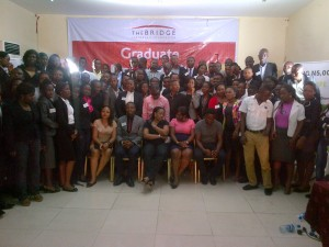 A cross section of graduands in group photograph