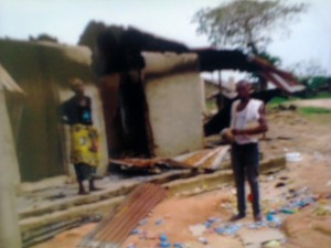 file picture: Aftermath of Communal conflict in Cross River State