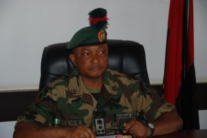 Major General Emmanuel Atewe, Commander of the Joint Task Force, Operation Paulo Shied