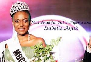 Miss Isabella Ayuk, MBGN 2012, organizer of the Cross River Most Beautiful Girl Pageant