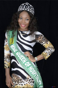 Okosin Blessing Bassey, reigning Miss Hospitality