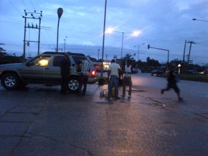 Black marketers making brisk business along a street in Calabar