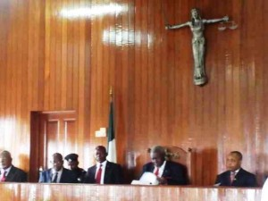 The CJ during the swearing in ceremony
