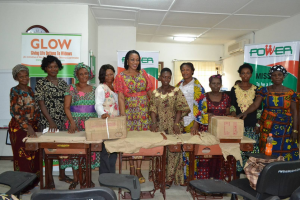 Mrs Imoke, (center) in a group photograph with beneficiaries