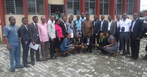 Newly inuagurated PGSG executives, Stakeholders and the university management in a group photo