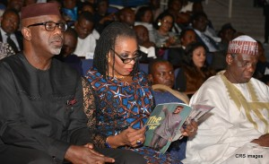 From left, Prof Jerry Gana, Mrs Obioma Liyel Imoke, Sen Liyel Imoke, at the  53rd birthday anniversary lecture  in honor of the governor in Calabar