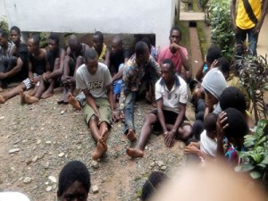 Some of the suspects that were paraded on Tuesday