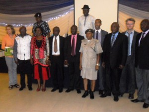 Cross section of dignitaries at the event