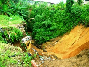 calabar flood 2 Extension of The Gully Infront of The Obong's House