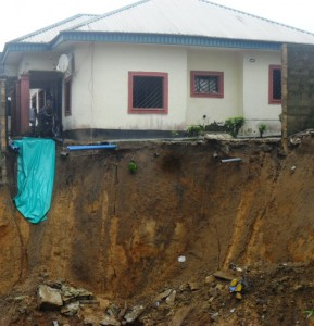 calabar flood 4 Dr. ogbaan's House At The Mouth Of The Gully