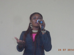 COE Akamkpa SUG President speaking at the seminar
