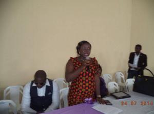 Akamkpa LGA Vice Chairman speaking at the seminar