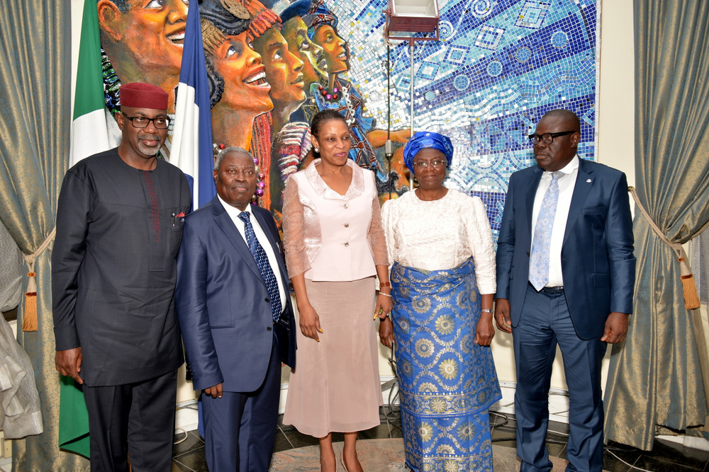 From left, Cross River State Governor, Senator Liyel Imoke, General Overseer, Deeper Christian Life Ministry, Pastor William Kumuyi, Mrs. Obioma Imoke, Pastor Mrs. Esther Kumuyi and Mr. Efiok Cobham, Deputy Governor of cross River when the cleric led other Pastors on a courtesy visit to Government House, Calabar yesterday