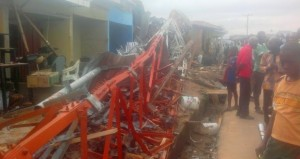 Collapsed mast at Odukpani Local Government