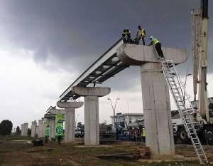 Calabar Monorail under construction