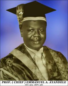 Professor Emmanuel Ayandele