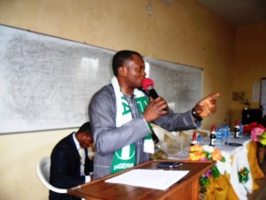 Agba Jalingo speaking at the event