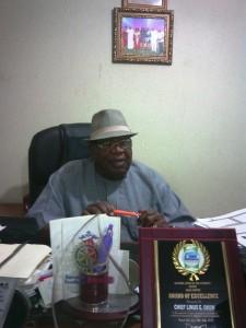 Chief Linus Okom, (Ada Bekwara) Chairman, Cross River PDP northern caucus