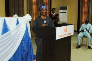 Prof. Akin Oyebode speaking at the event