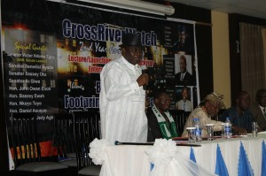 Prof. Eyo Etim Nyong, representative of the Chairman of NDDC at the event