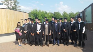 3rd from left in the first roll is Eyo Bassey Ndem and his colleagues in a group photograph during their graduation in Southampton