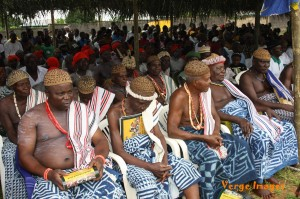 A cross section of traditional chiefs at the ceremony