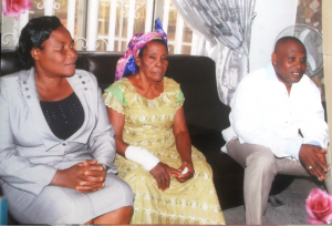 (middle) Later Mrs. Akador Elizabeth Odu, Rekpene Bassey, Cross River Security Adviser (right) and his sister