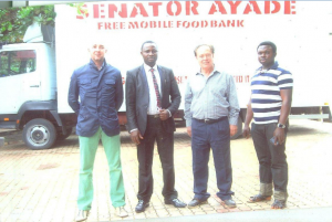 The two Italians trainers and other staff of the senator