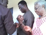 Cross River Resident Electoral Commissioner, Mr. Mike Igini at one of the registration units in Calabar yesterday