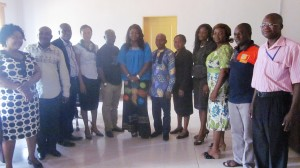 Abi Chairman in a group photograph with the NCWD-JICA Team and officials of the ABI Women Development Center
