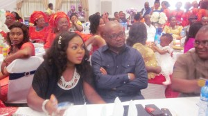 Abi Chair and colleagues (Biase and Akpabuyo LGC Chairman) at the wedding