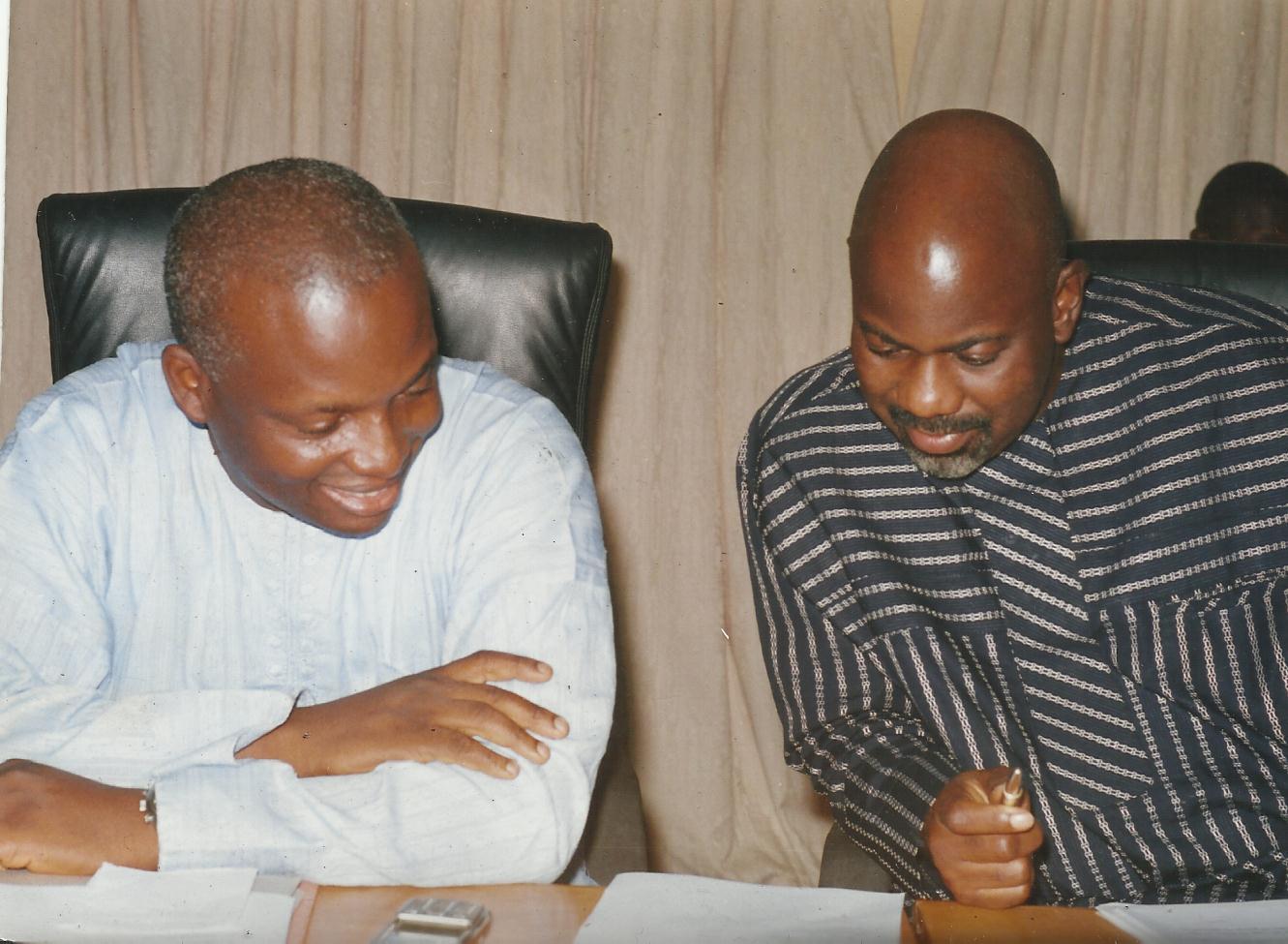 Chief Gershom Bassey (left) and Governor Liyel Imoke