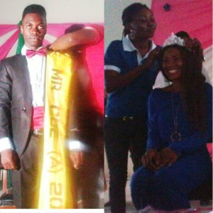 Mr. and Miss. COE Akamkpa being decorated