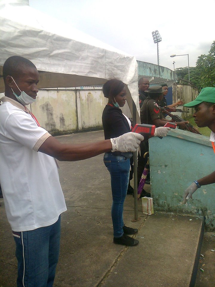 Ebola: Officials Screen Spectators Into Super Eagles/Congo Match Venue In Calabar
