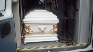 Casket bearing the remains of late Jude Okwe